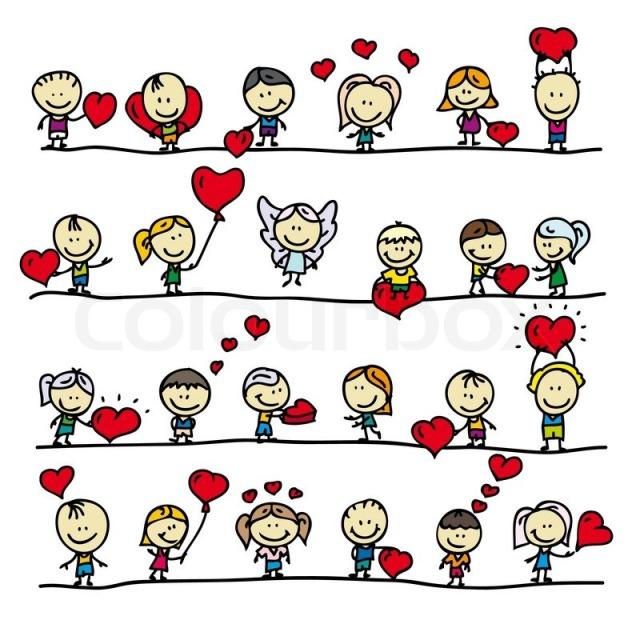 Children Heart Doodle